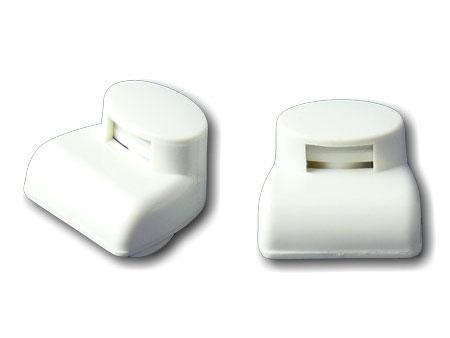 Brillen-Etikett weiß mini
