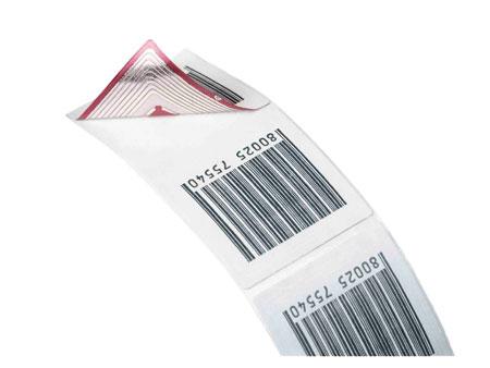 Klebe-Etikett 4x4 barcode